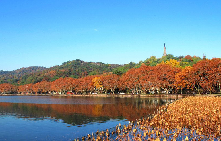 hangzhou West Lake under blue sky