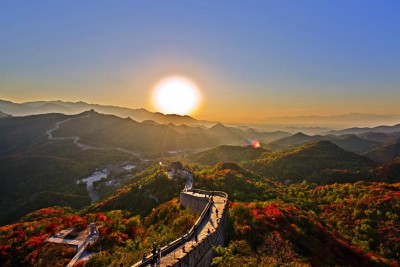 great wall of china aerial point of view
