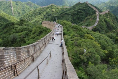 mutianyu great wall - hilly
