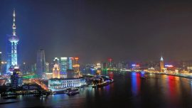 Bund skyline in china