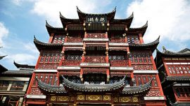 city god temple under blue sky in china