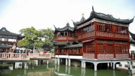 Yu Garden in front of temple in china