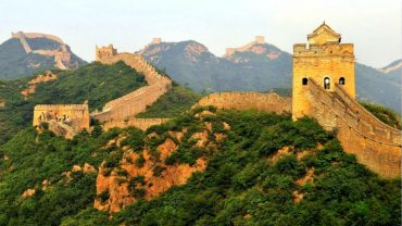 jinshanling great wall beijing on hillside