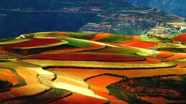 yunnan dongchuan red lands in china