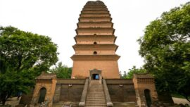 The Small Wild Goose Pagoda in china
