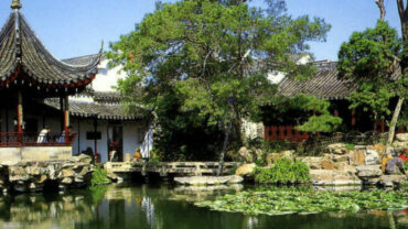 picture of china garden in summer