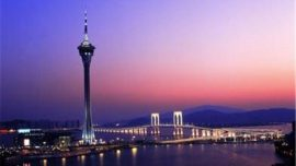 aerial photo of Macau Tower