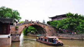 boat along the Fengqiao Scenery Area