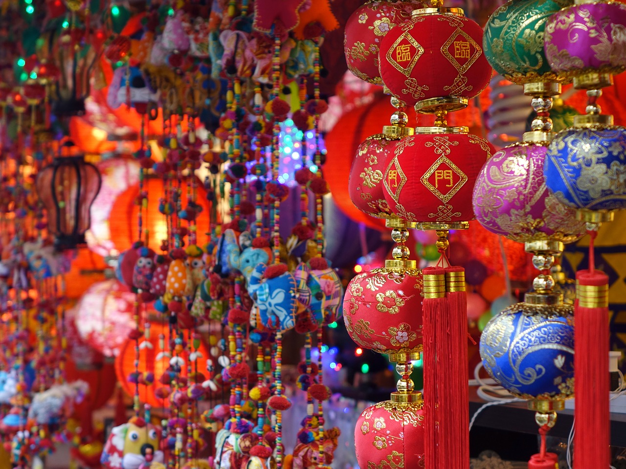 asian jewelry hanging