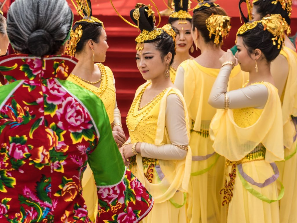 Chinese girls ready for dancing