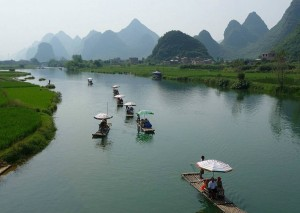 Bamboo Rafting along Li River
